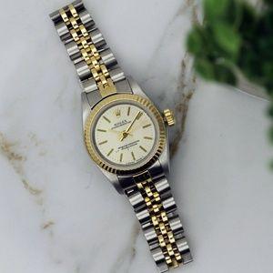 Rolex Ladies Non Date Gold & Steel Watch